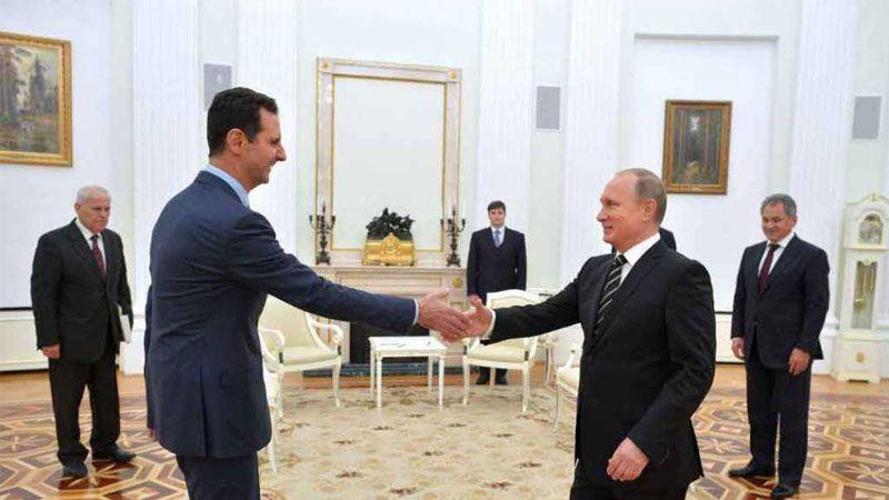 لقاء   الاسد - بوتين