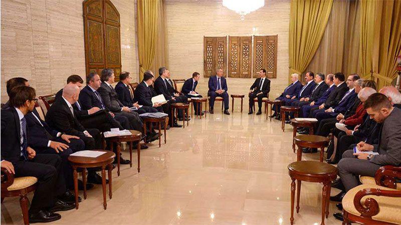 الرئيس الأسد التقى وفداً حكومياً روسياً
