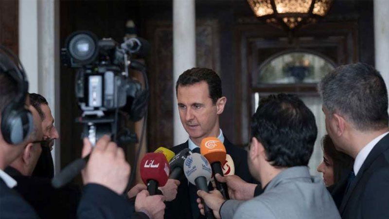 الرئيس الأسد: الحملة ضد سورية تهدف إلى استنهاض الإرهابيين