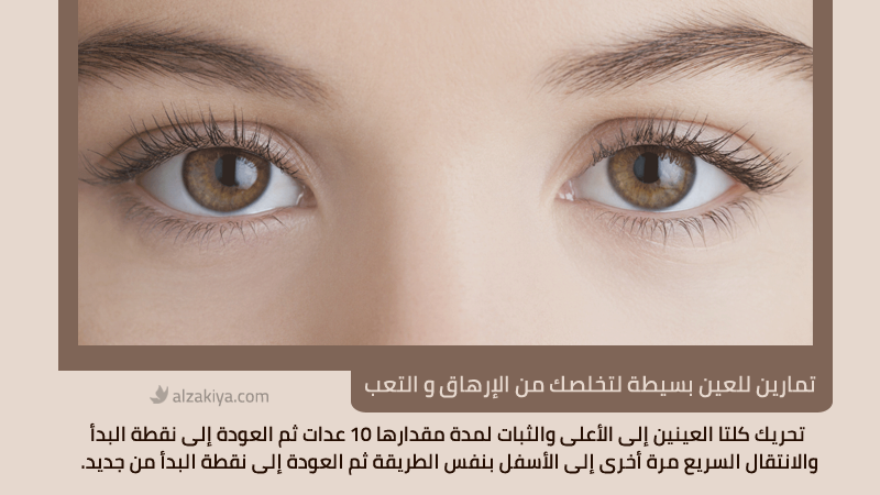 تمارين للعين بسيطة لتخلصك من الإرهاق و التعب