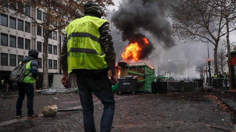 المظاهرات في فرنسا
